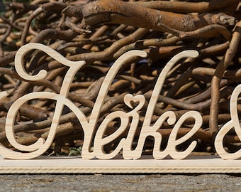 Wood Letter Letter XXL Free Standing (price per Buchtabe/number/sign)