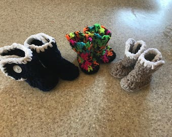 Ug style baby slippers/booties