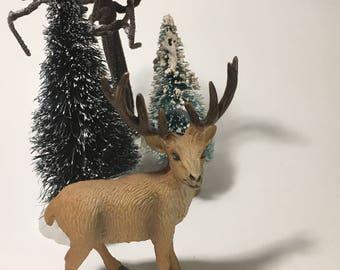 Reindeer for Fairy Garden Miniatures, Miniature Deer Figurine