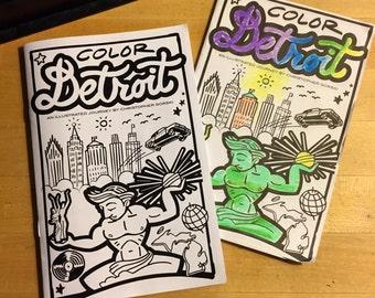Color Detroit · coloring book