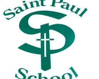 St. Paul School Logo Window Sticker