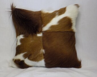 Hair on Patchwork Pillow