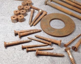 Salvaged Hardware Lot, Rusty Hardware Lot, Steampunk Supply, Assemblage Supply, Altered Art Supply, Metal Sculpture, Craft Supply
