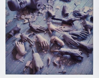 Polaroid Print - Pile of Hands