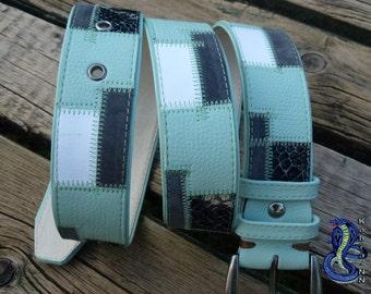a leather belt ,handmade