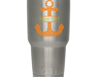 Anchor Yeti Cup Decal, Yeti Decal, Yeti Tumbler Decal for Women and Man, Yeti Personalized Decal, Yeti Cup Decal, Yeti Rambler Decal