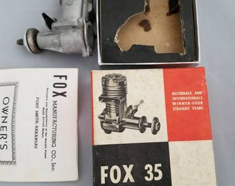 Fox 35 Model Airplane Motor original box