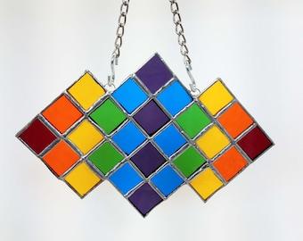 Rainbow Suncatcher - Stained Glass