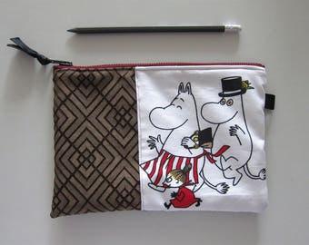 Moomin pouch, Moomin pencil case, Moomin case, Moomin cosmetic bag, Moomin pen holder, Moomin travel case, Moomin toiletry bag