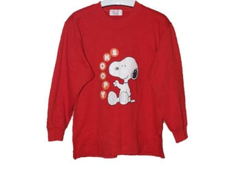 Vintage Snoopy Peanuts Sweatshirts Red Colour L Size
