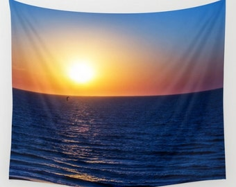 Sunset Tapestry Sea Tapestry Minimal Tapestry Sunshine Tapestry Photo Tapestry Sea View Tapestry Wall Hanging Sky Tapestry Sea Tapestry