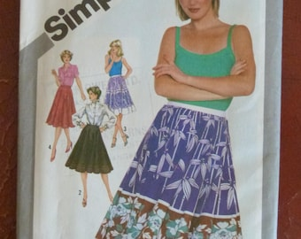 Vintage 1980s Simplicity 5090 Full and Half-Circle Skirt Sewing Pattern - Size 16