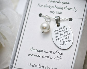 Stepmother Necklace -SF2- Gift For Mother In Law, Gifts for Stepmom, Gift from Daughter In Law, Stepmother, Mother of the Groom Necklace