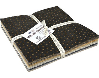 """Maywood Studio Woolies Neutral **Flannel** 10"""" Layer Cake"""