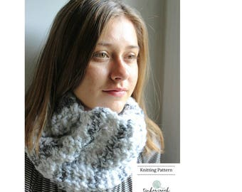 Circle Scarf Pattern, Neckwarmer Pattern, Cowl PDF Pattern, Infinity Pattern, Knit Snood Pattern, Easy Knit Cowl Pattern, Chunky Bulky Scarf