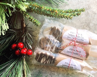 Hot Chocolate Spoons - 3 - Cocoa Bar - Winter Wedding Favors - Chocolate Spoons - Stocking Stuffers - Teacher Gifts - Chocolate Lovers