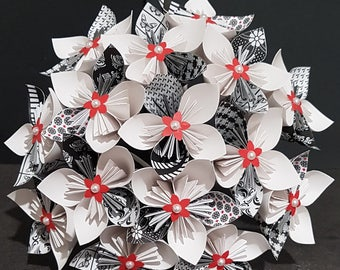 Example - 15 origami paper Flower Bouquet