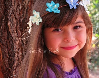 Baby Floral Crowns - Baby Flower Crowns, Boho Flower Crown, Bridal Shower Crowns, Boho Wedding, Flower Boho Crowns, Summer Floral Crowns