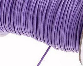 Waxed cord 2 mm Lavender meter
