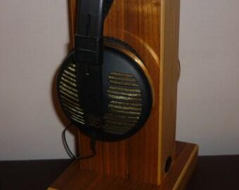 Oscarsaudio Stacked Ply Headphone Stand in American Black Walnut veneer