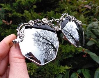 Black Hexagon Sunglasses ~ Wirewrap Sunglasses
