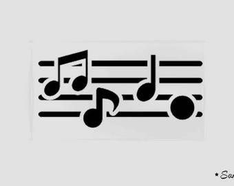 fusible applique sheet music notes flex