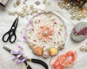 White Coral Pearl Beach Dream Catcher