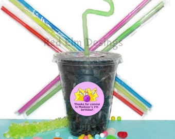 Bowling Party Cups, Bowling Cups, Kids Birthday Party Cups, 20 Cups, Bowling Kids Party Cups, Straws and Lids, 12 Ounce Cups