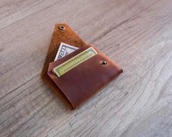 Leather wallet, Personalized wallet, mens leather wallet, credit card holder, leather card holder, slim wallet, minimalist wallet,