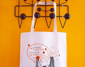 Tote bag cotton natural color - I did love...