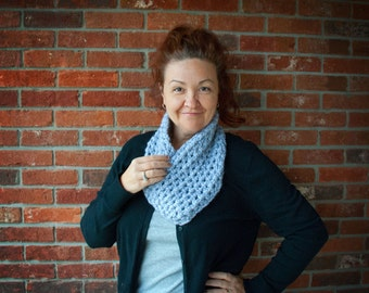 Crochet One Piece Gray cowl