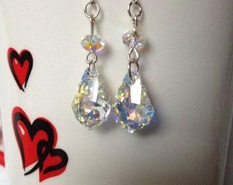 Stunning Swarovski Crystal earrings, Swarovski Baroque earrings, Valentines gifts