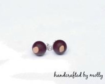 OSU Buckeye Beaded Post Earrings