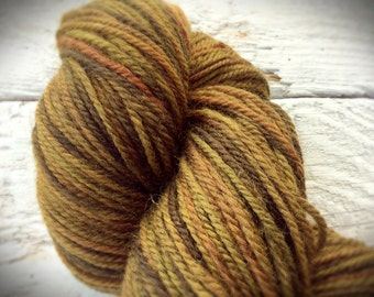Brown hand dyed wool - superwash