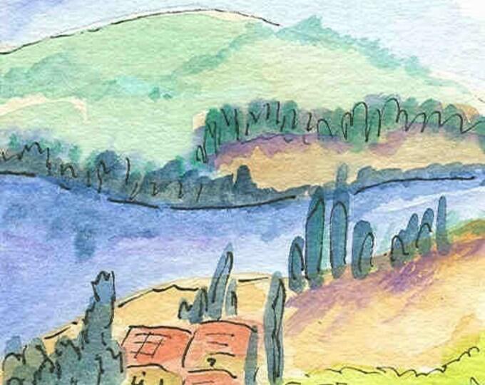 Italian Countryside notecard