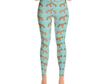Boxer Women's Yoga Pants - Yoga Leggings - Yoga Pants - Cute Yoga Pants - Boxer Print Leggings - Dog Gift - Boxer Dog Gift - Boxers - Boxer
