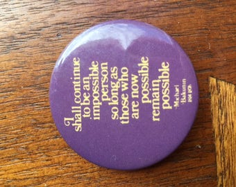 Vintage Anarchist Quote Pinback