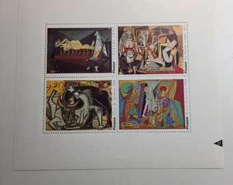 Picasso Four Nudes French Artists Stamps