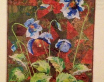 Art Quilt Pattern POPPIES ON ICE designed by Grace Errea
