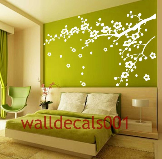 bedroom Wall Decal wall sticker cherry blossom treeflower