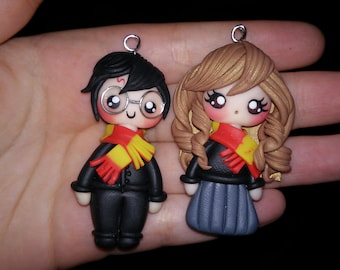 Harry Potter Hermione Clay Necklace/ Harry Potter Hermione Collana in fimo/ Polymer clay Herry Potter