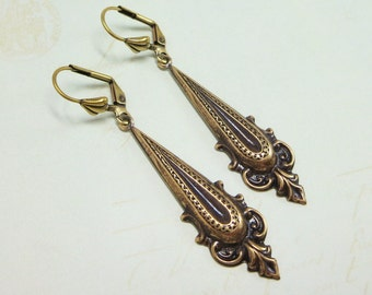 Art Deco Earrings Bohemian Earrings Long Ear Dangles