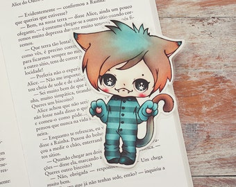 Alice in Wonderland - The Cheshire Cat - bookmark - made to order
