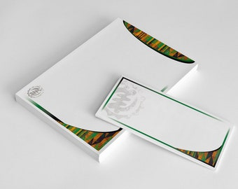African Inspired Kente Stationery