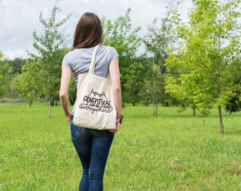 Adventure Can Be Found Anywhere Tote Bag - Adventure Tote Bag - Canvas Tote - Adventure Bag -  Travel Bag - Travel Gift - Adventure Awaits