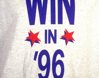 vtg 90s political 1996 DNC Democratic National Committee T-Shirt Bill Clinton XL
