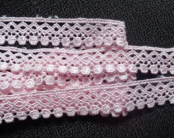 3/4 inch wide Pink or blue  Lace Trim,price for 1 yard