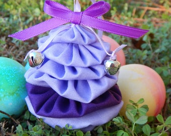 Lavender and Purple Yo Yo Egg Ornament