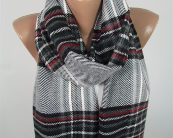 Wool Scarf Plaid Scarf Men Scarf Winter Scarf Clothing Gift  Mothers Day Gift For Him For Her For Men For Boyfriend Dad