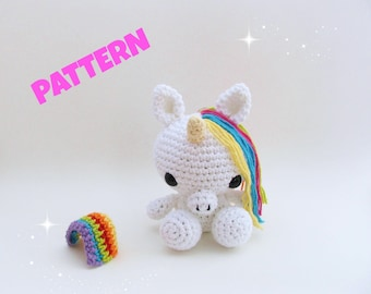 Amigurumi Unicorn Pattern, Crochet Unicorn Pattern, Unicorn Doll Pattern, Crochet Unicorn Doll Pattern, Crochet Amigurumi Unicorn Pattern
